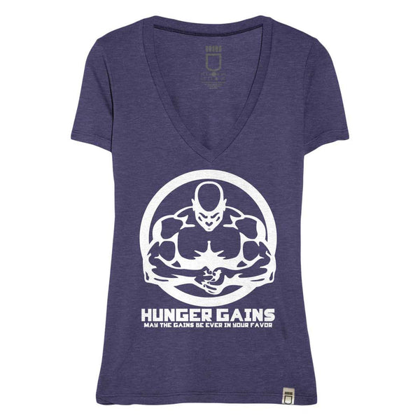 "Hunger Gains ""Bodybuilding"" Women's Deep V Neck"