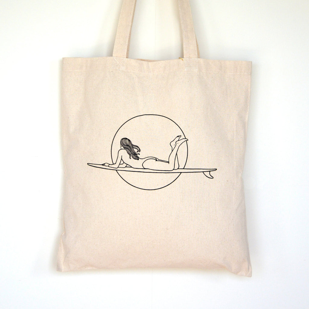 "Surf Art Tote Bag, ""Dawn Patrol"""