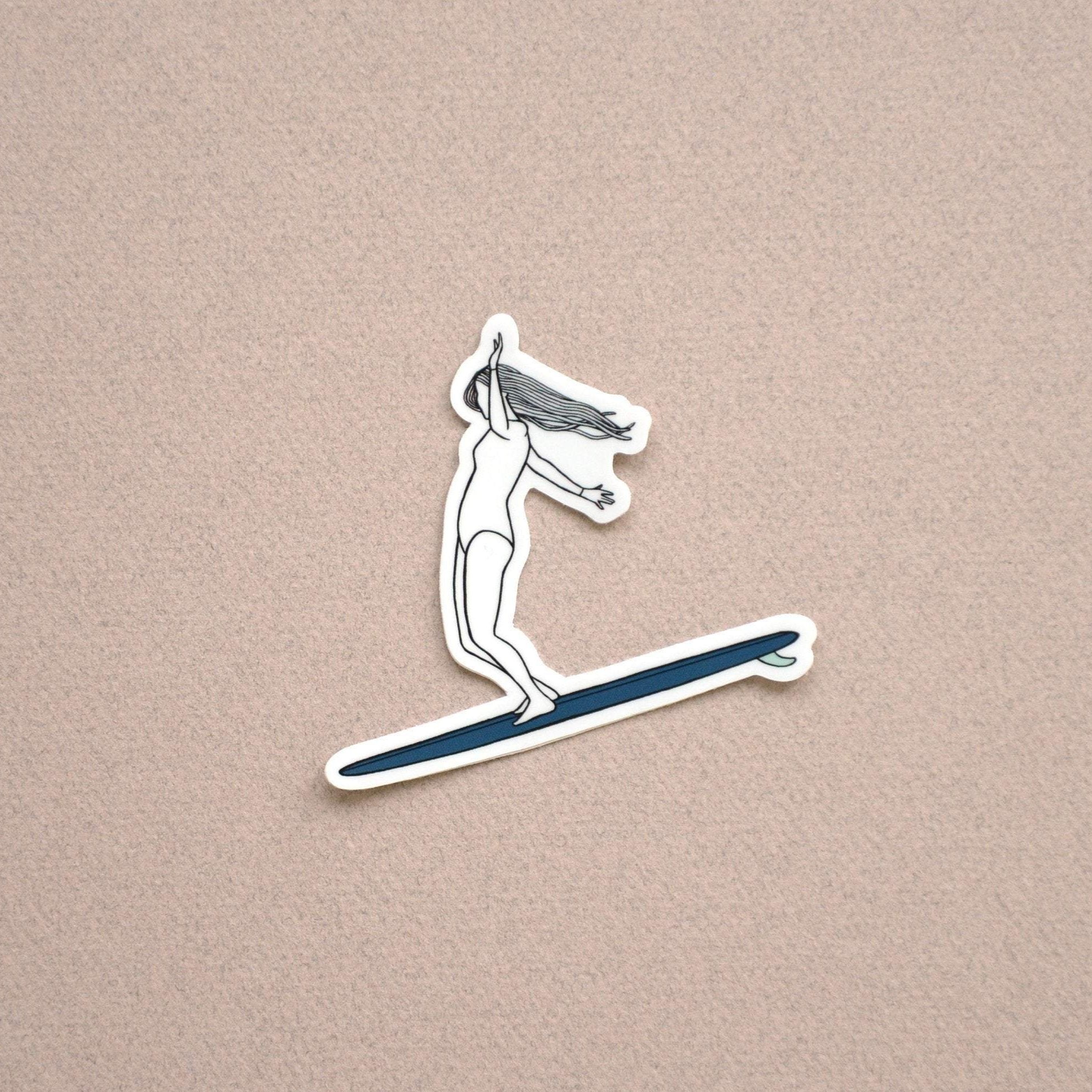 "Surf Art Sticker, ""Cruisin"""