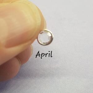 April Crystal Birthstone Charm