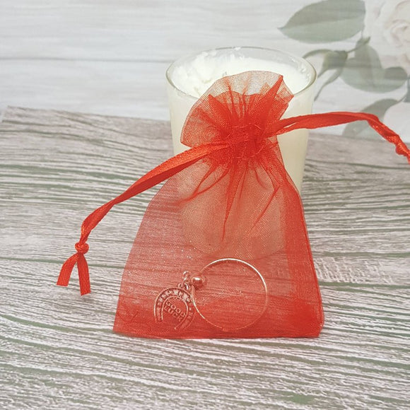 Organza Gift Bag For Jewelry Packaging - Red - 7cm x 9cm