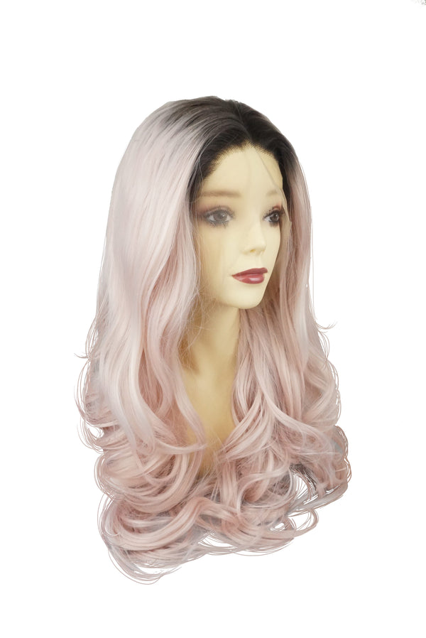 Pinkblack|Synthetic Swiss Lace Front Wig