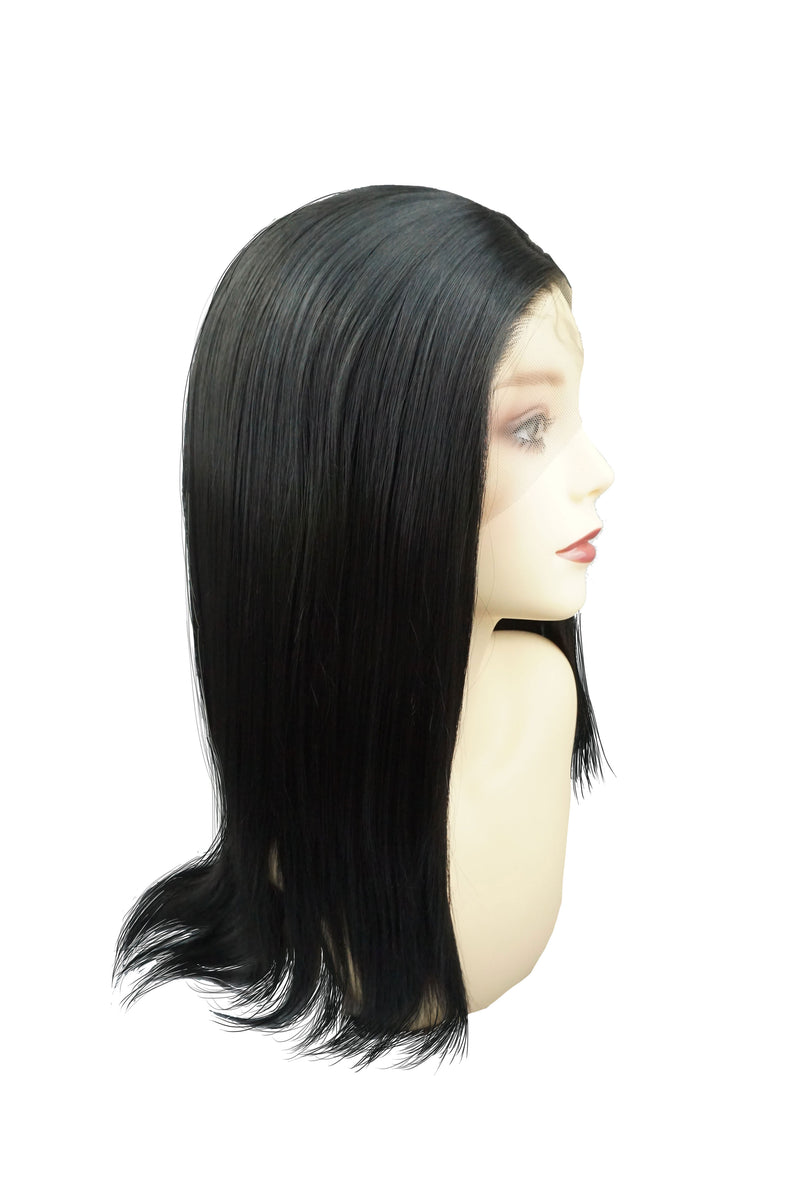 Billie Black|Synthetic Swiss Lace Front Wig