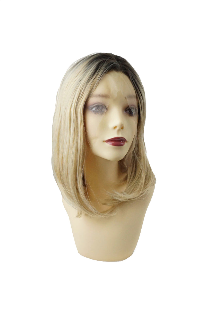 Honey|Synthetic Swiss Lace Front Wig