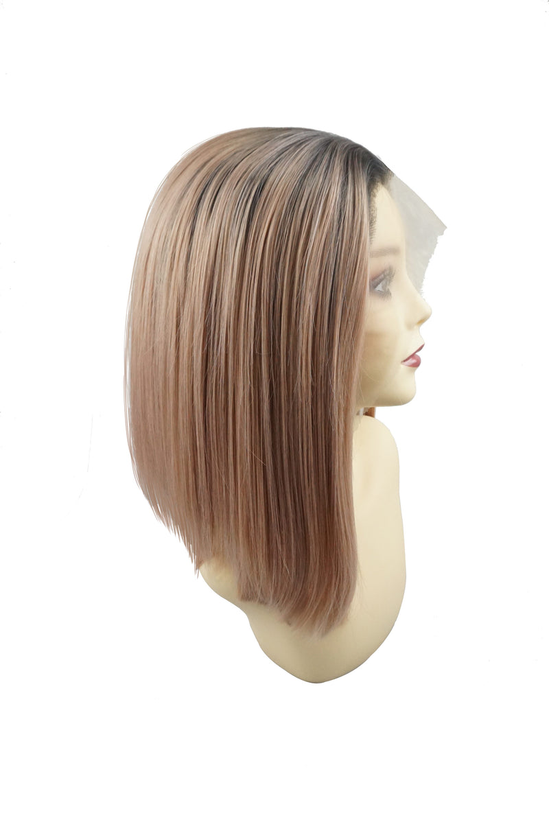 Peach Candy|Synthetic Swiss Lace Front Wig