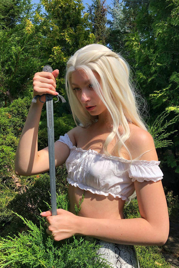 Daenerys|Synthetic Swiss Lace Front Wig