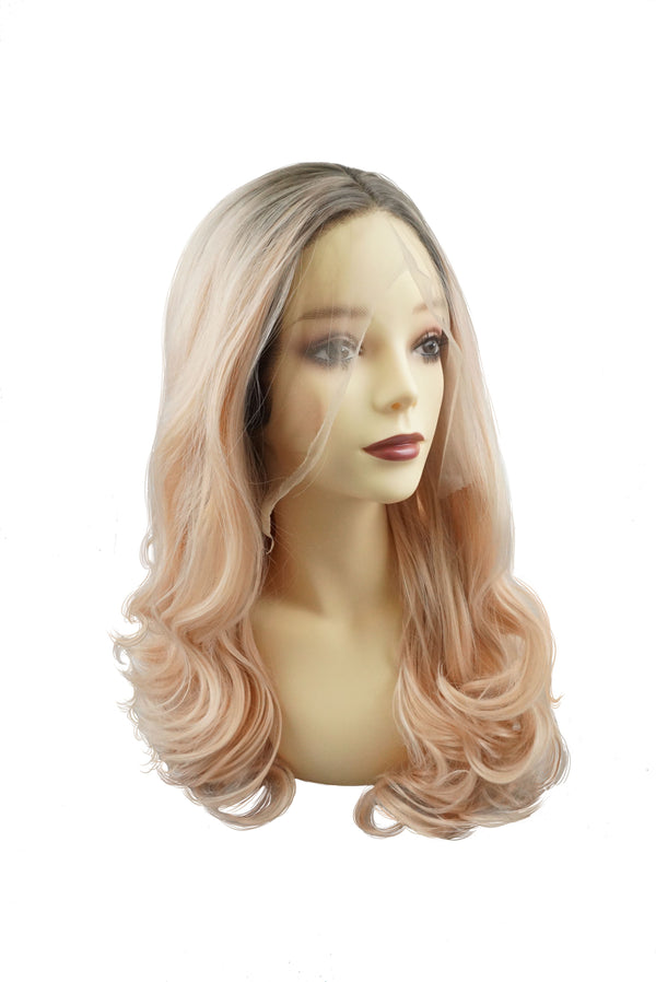 Living Coral|Synthetic Swiss Lace Front Wig