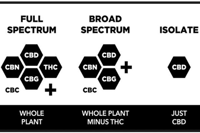 What is the difference between Full Spectrum, Broad Spectrum and Isolate CBD products?