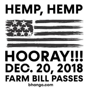 The 2018 hemp farm bill finally passed! CBD Oil product sales are on the rise