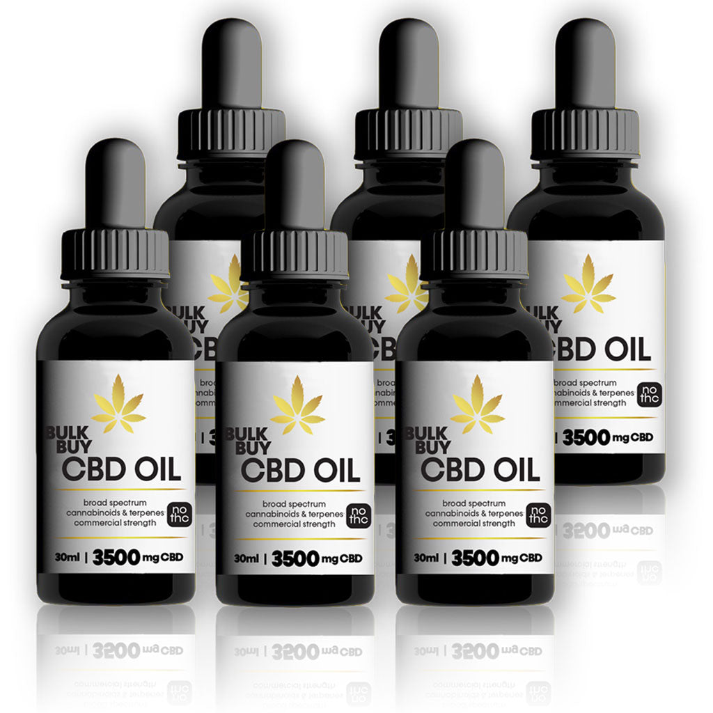3500mg Bulk Buy CBD oil tincture in MCT (coconut oil) | 1oz bottles and 6 packs - Bhango CBD Boutique