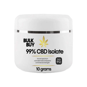 99% Buy Bulk CBD Isolate | Commercial size for Products and Menus | 10 to 50 gram Increments - Bhango CBD Boutique