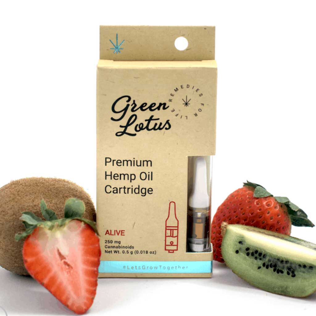 250mg CBD Distillate Vape Cartridge - Strawberry Kiwi Flavor - Bhango CBD Boutique