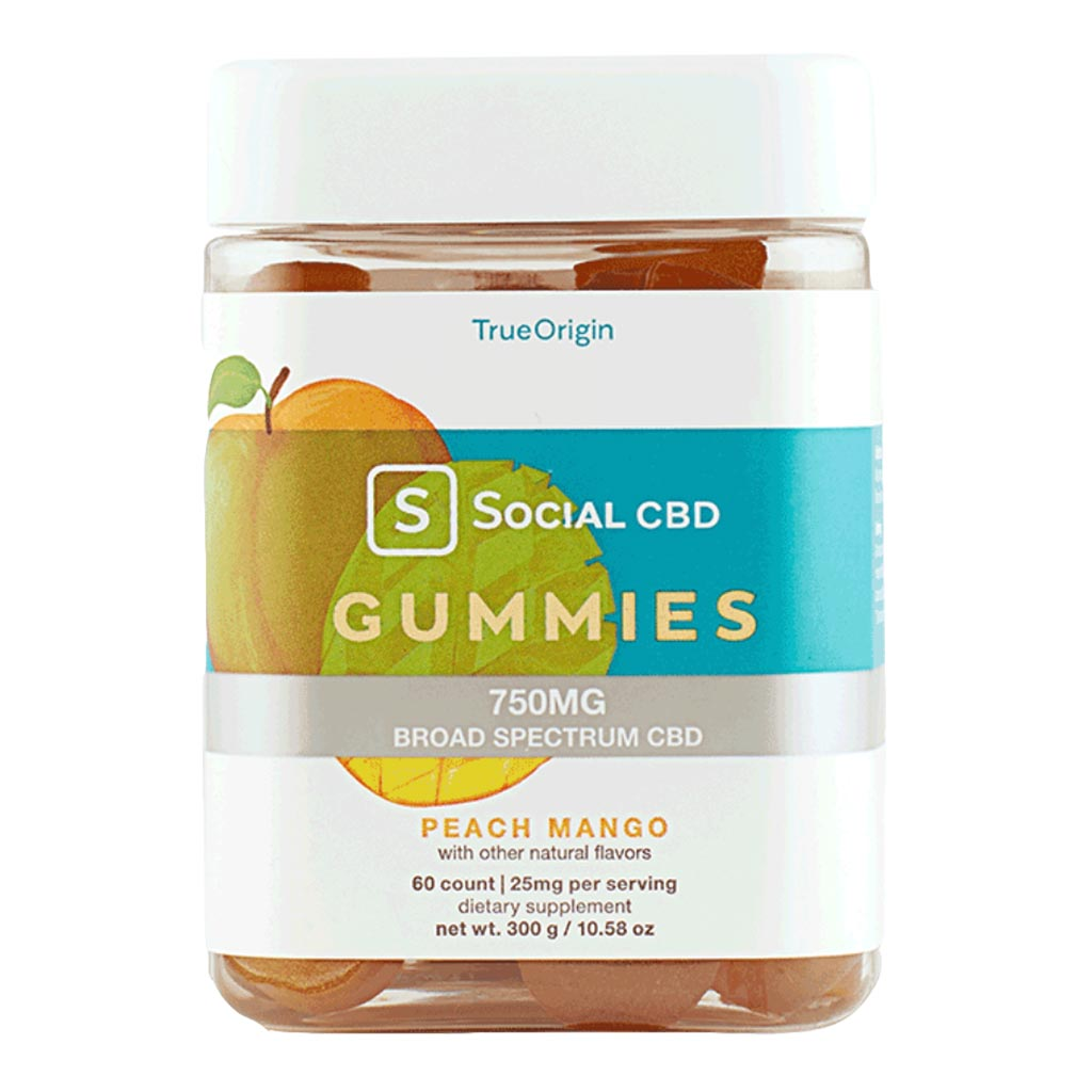 750mg CBD Gummies | Peach Flavor | Broad Spectrum CBD | 60 count x 25mg - Bhango CBD Boutique