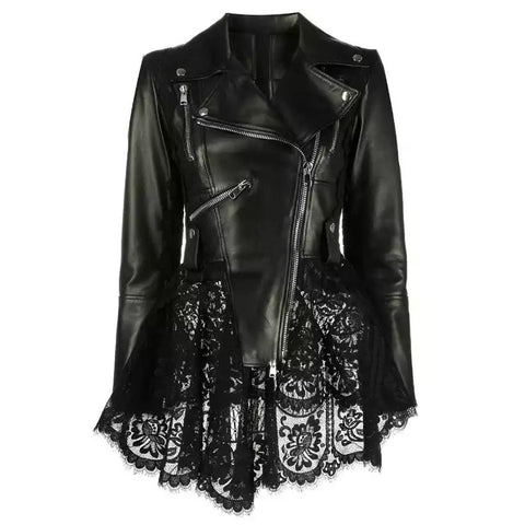 Leather & Lace Biker Jacket