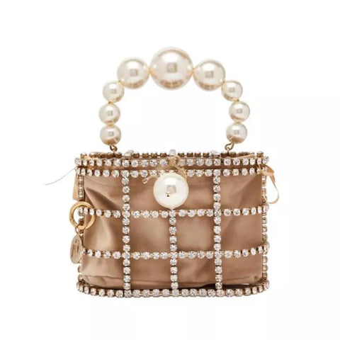 Pearl & Diamond Handbag
