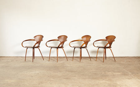 /products/norman-cherner-pretzel-dining-chairs-made-by-plycraft-usa-1960s