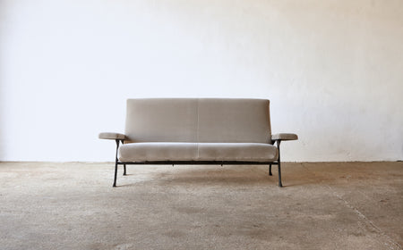 /products/rare-authentic-1950s-roberto-menghi-sofa-arflex-italy-newly-upholstered