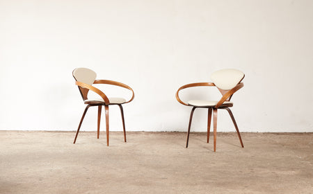/products/norman-cherner-pretzel-arm-chairs-plycraft-usa-1960s