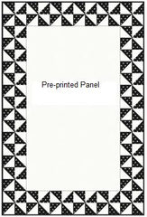 Half Square Triangle Pinwheel Border for a Pre-printed Panel - Free Pattern (with purchase)