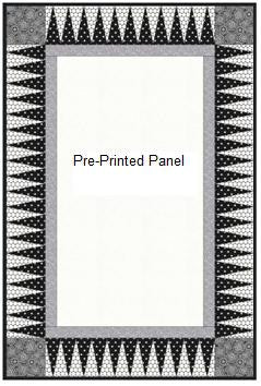 22.5 Triangles Spikey Border for a Pre-printed Panel - Free Pattern (with purchase)