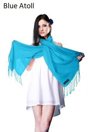 blue atoll ring pashmina stole.