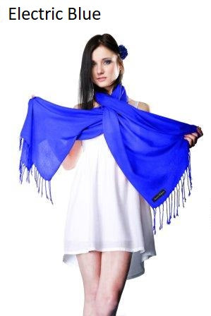 electric blue ring pashmina stole.