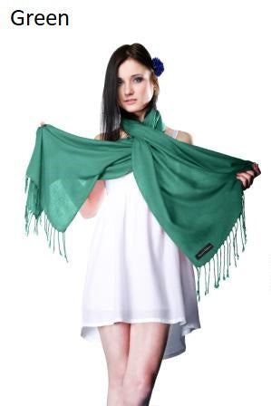 green ring pashmina stole.