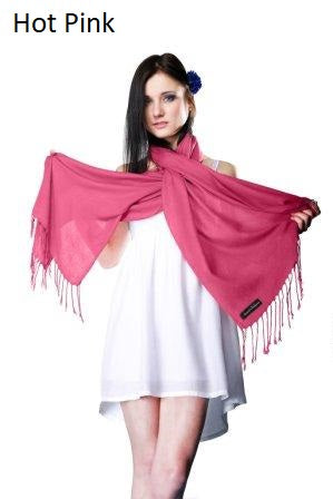 hot pink ring pashmina stole.