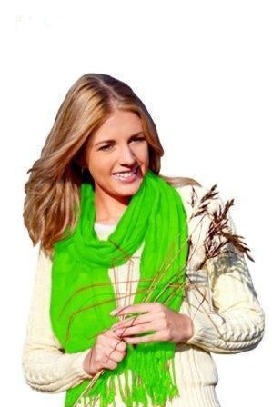 Lime shawl ring pashmina.