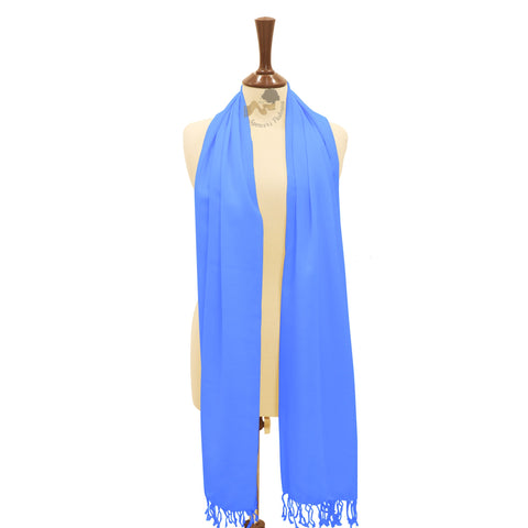 Royal blue cashmere pashmina shawl