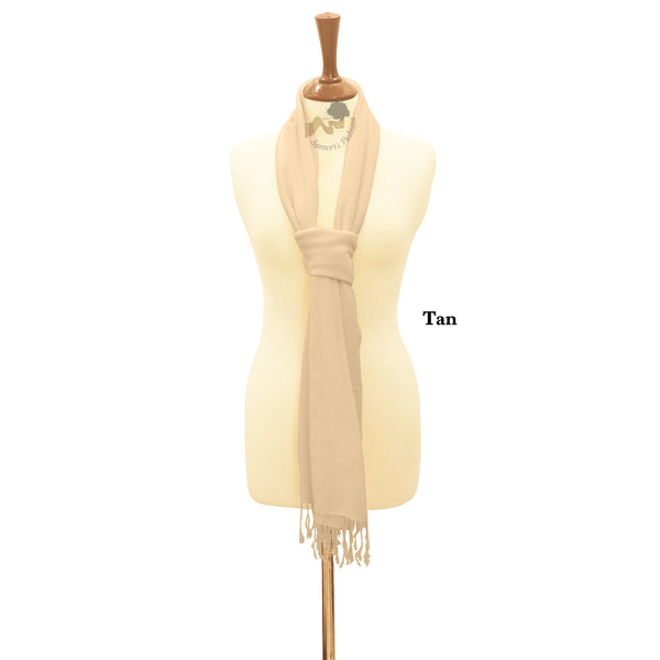 Tan wrap ring pashmina.