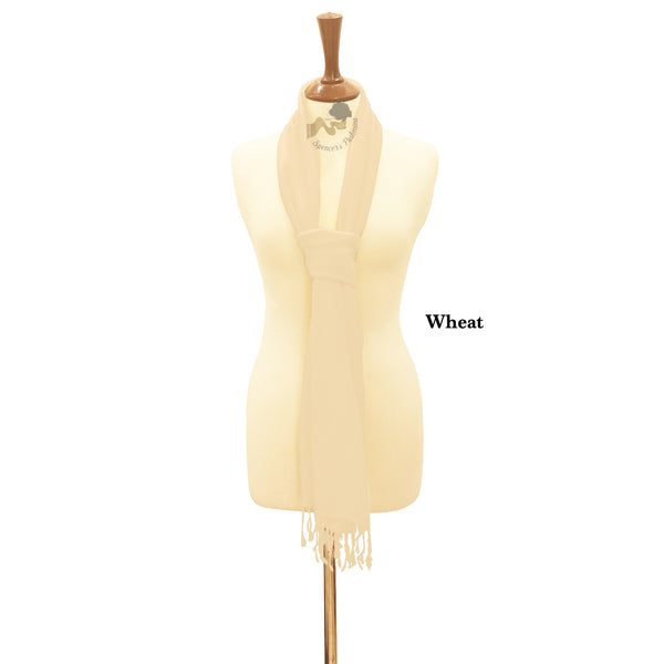 Wheat wrap ring pashmina.