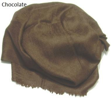 Chocolate Jacquard Pashmina Wrap