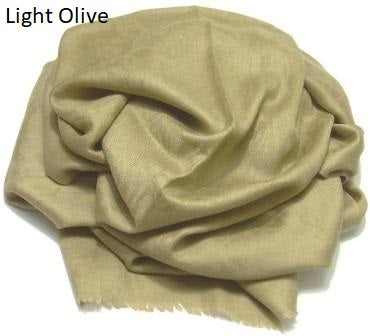 light olive jacquard pashmina wrap, shawl.