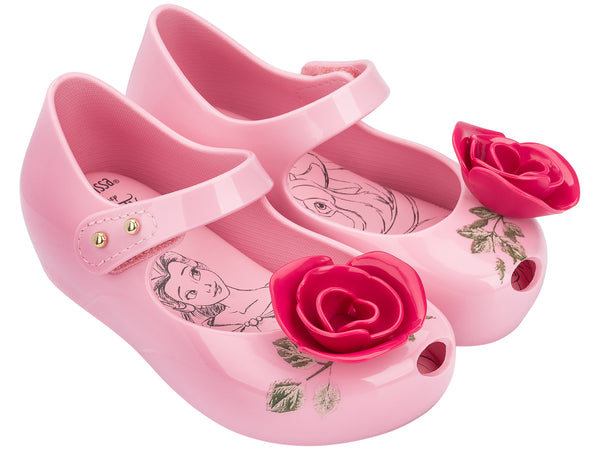6b7442cb0438 Mini Melissa Ultra Girl Beauty and the Beast Rose