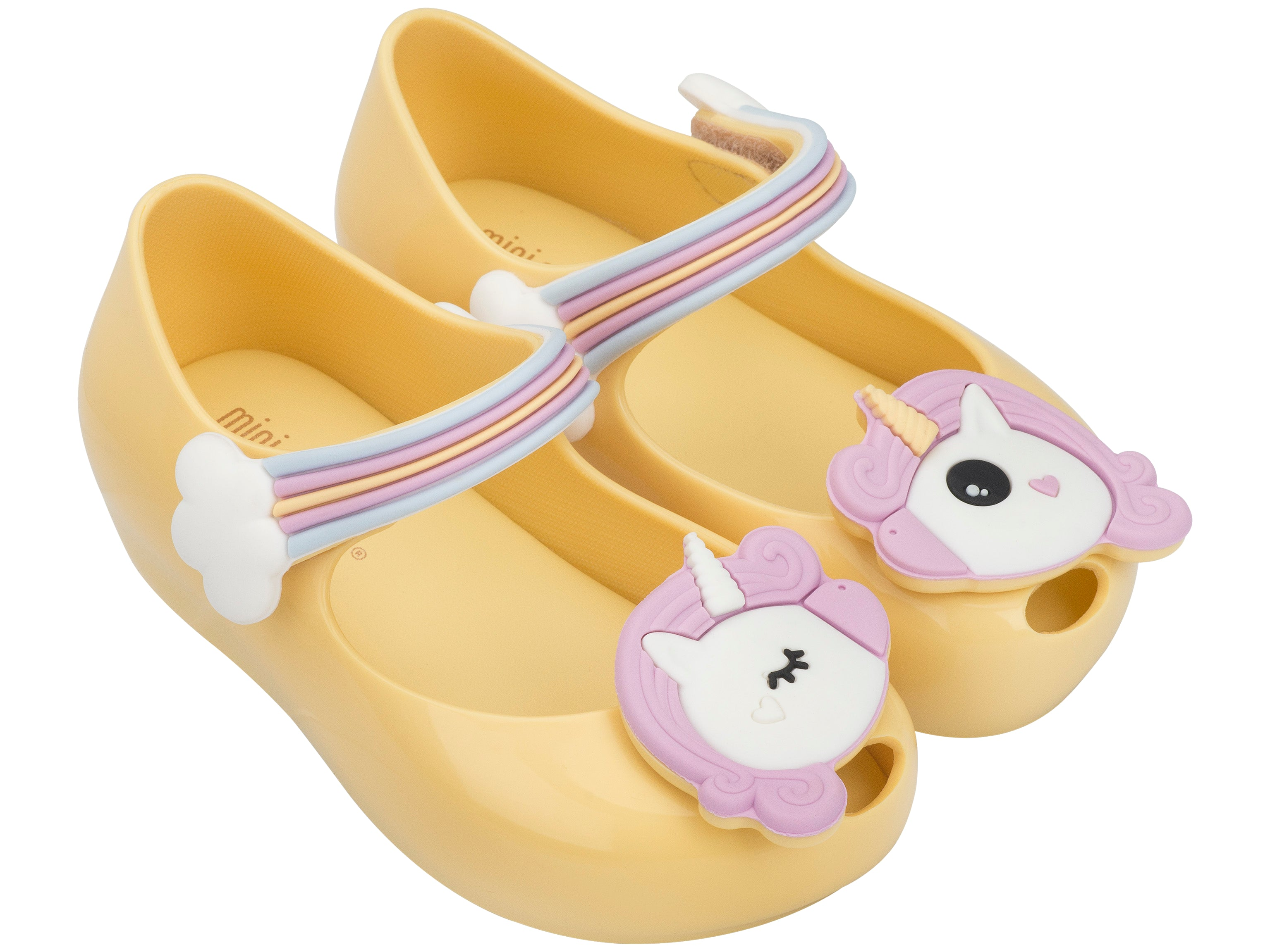 Mini Melissa Ultragirl Unicorn Yellow – Little Troopers Shoes d9bf13c64