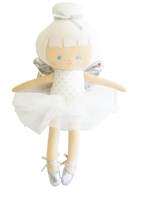 LILLY BABY CHRISTMAS FAIRY 25CM SILVER