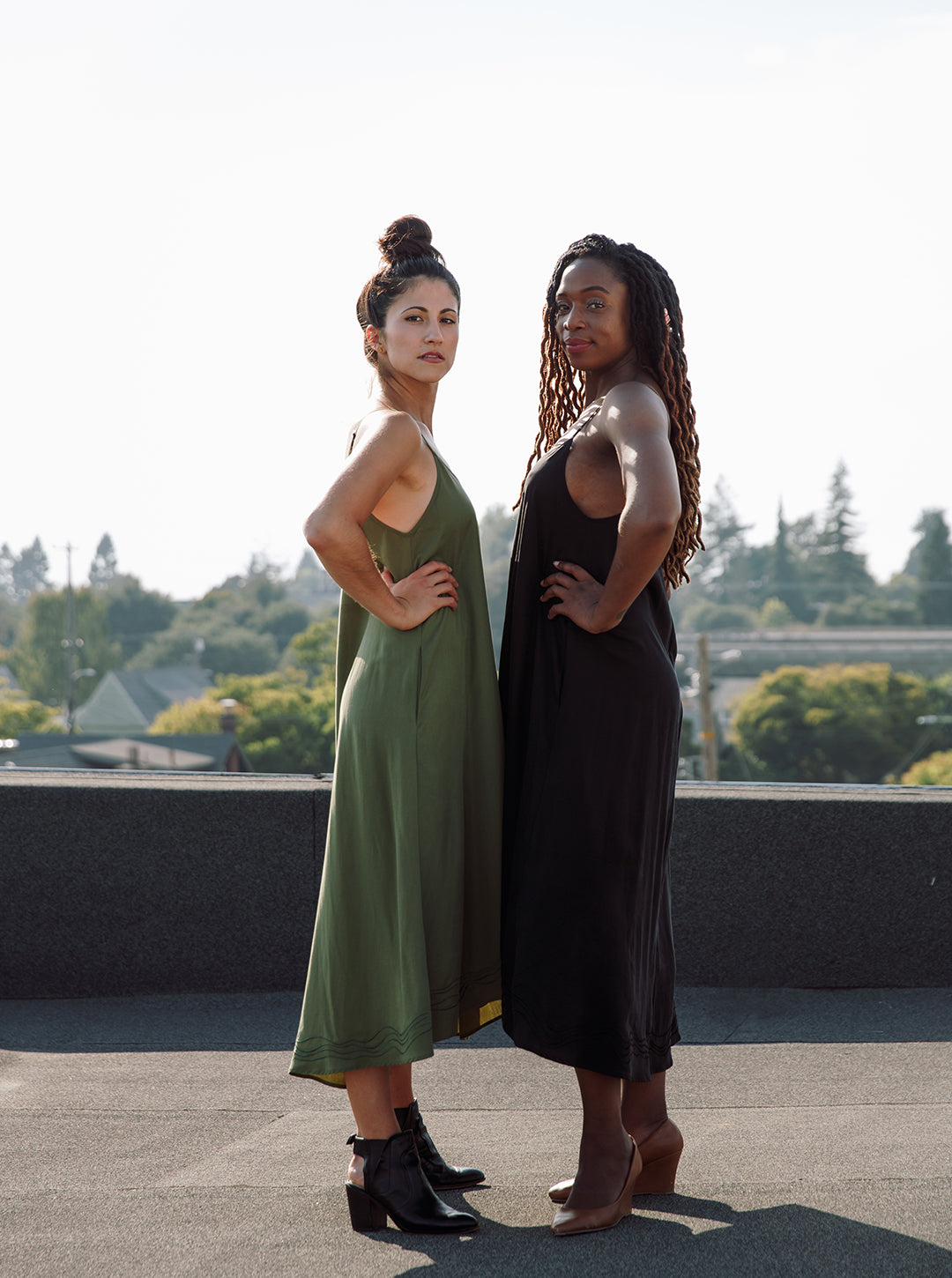 Standing strong in our maeve dress