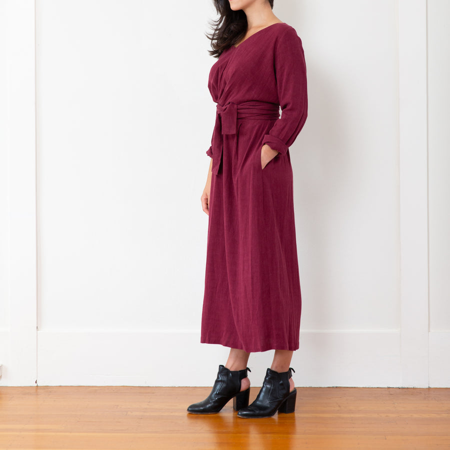 Sophia Dress, Burgundy
