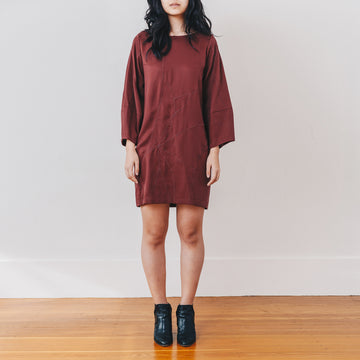 Stella Shift Dress, Burgundy