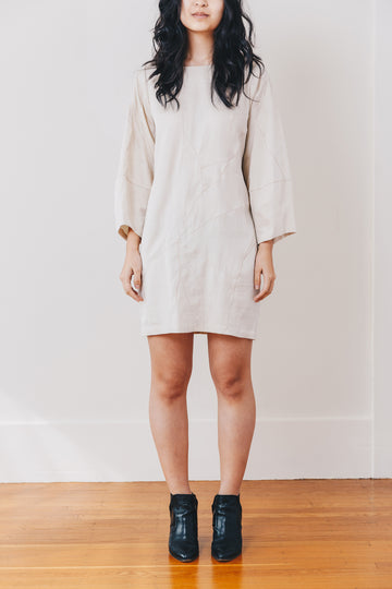Stella Shift Dress, Oyster