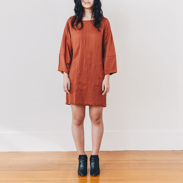 Stella Shift Dress, Rust
