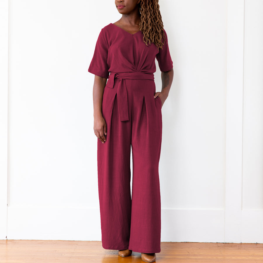 Isabel Jumpsuit, Burgundy