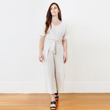 Isabel Crop Jumpsuit, Natural