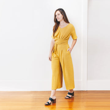 Isabel Crop Jumpsuit, Saffron