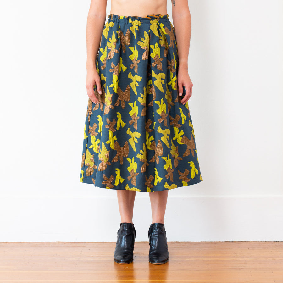 Celeste Skirt, Blue/Gold