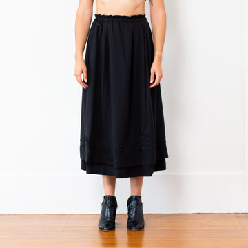 Embroidered Celeste Skirt - Black