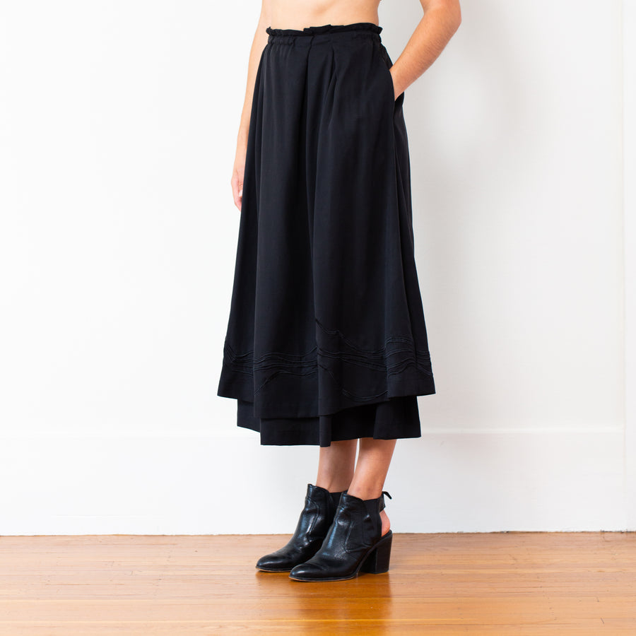 Embroidered Celeste Skirt, Black
