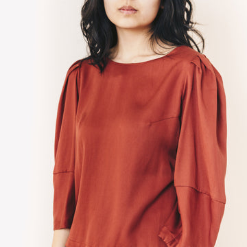 Octavia Blouse, Rust