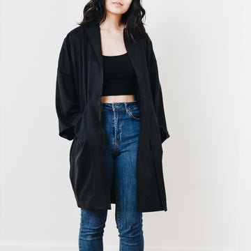 Yuki Embroidered Jacket, Black